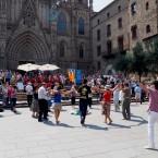 Sardanas en la Plaça de la Catedral