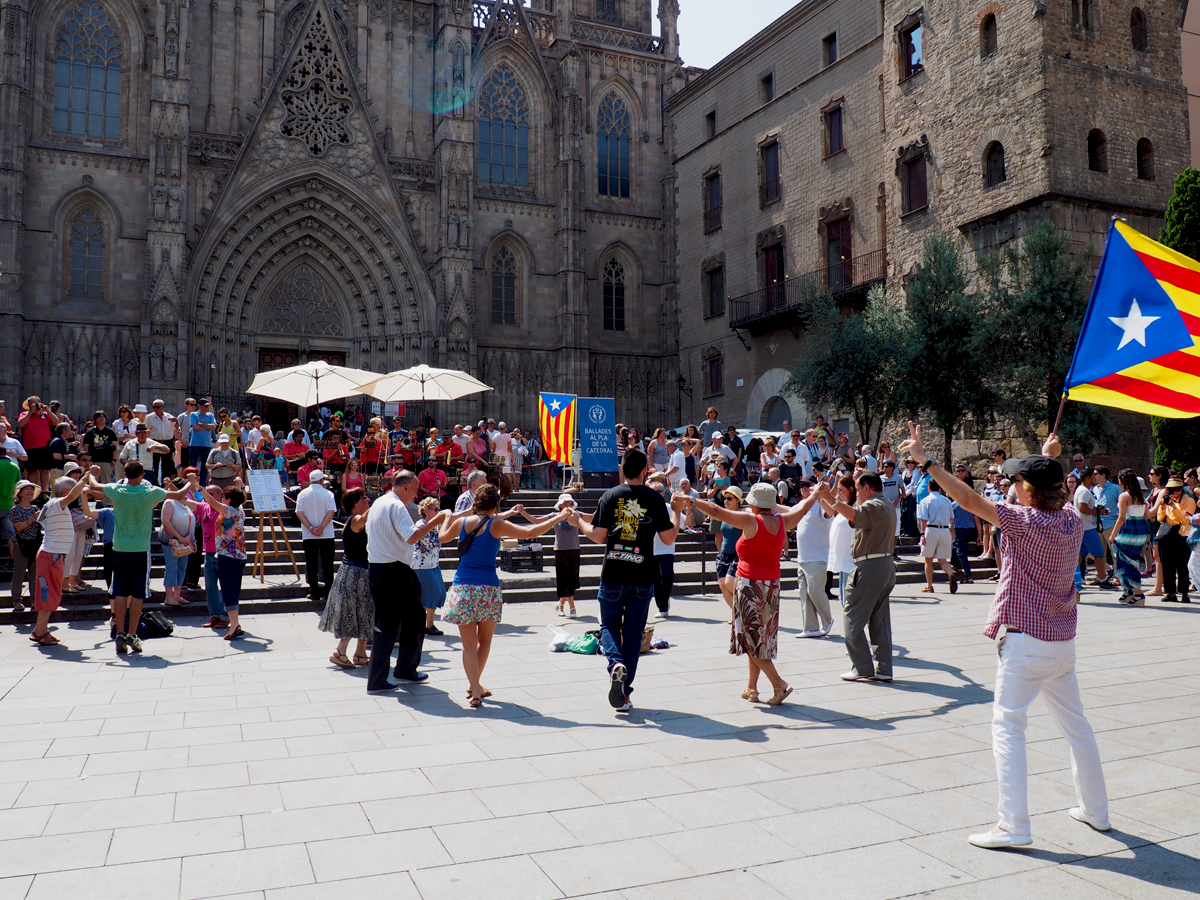 Sardanas catedral de Barcelona - Visión general