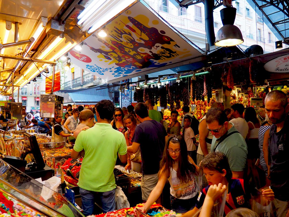 El Mercat de la Boqueria de Barcelona