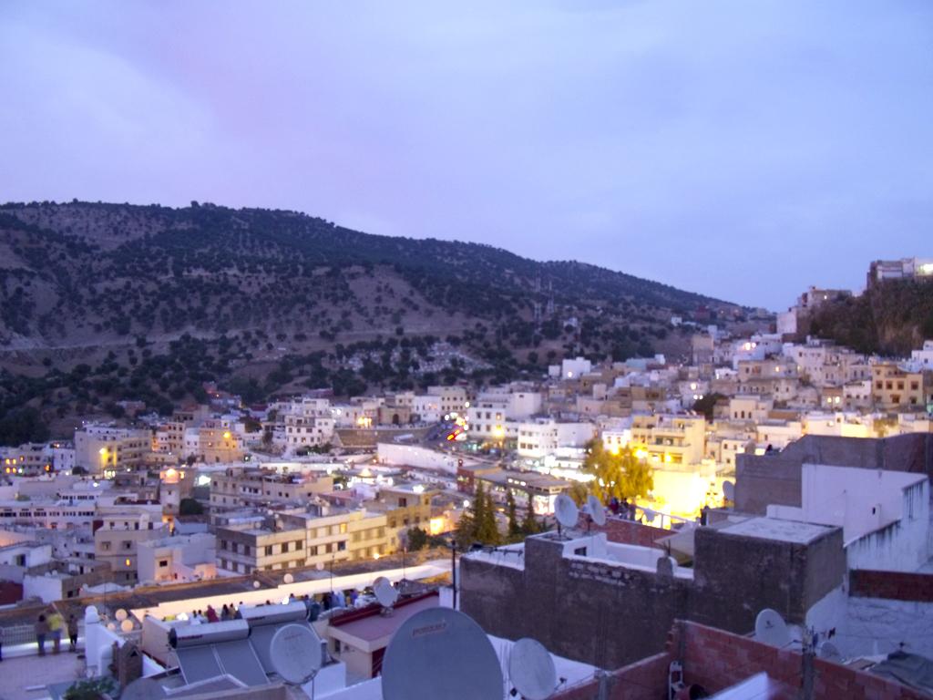Atardecer en Moulay Idriss, vista ciudad