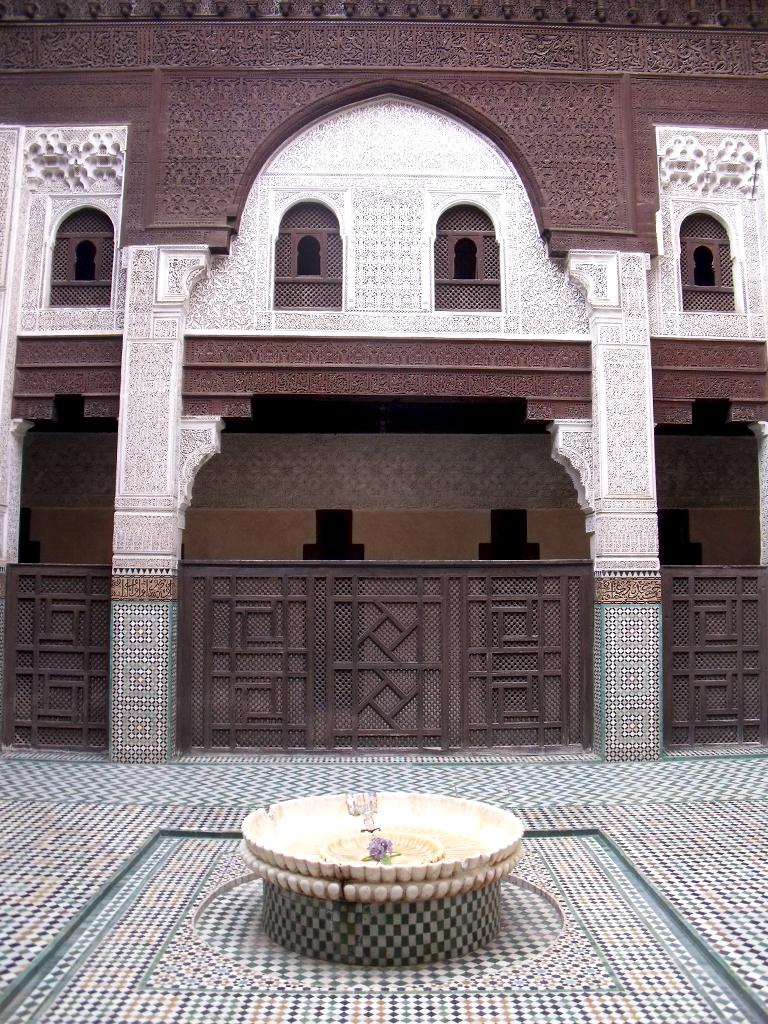 Patio de la Medersa Bou Inania en Meknès