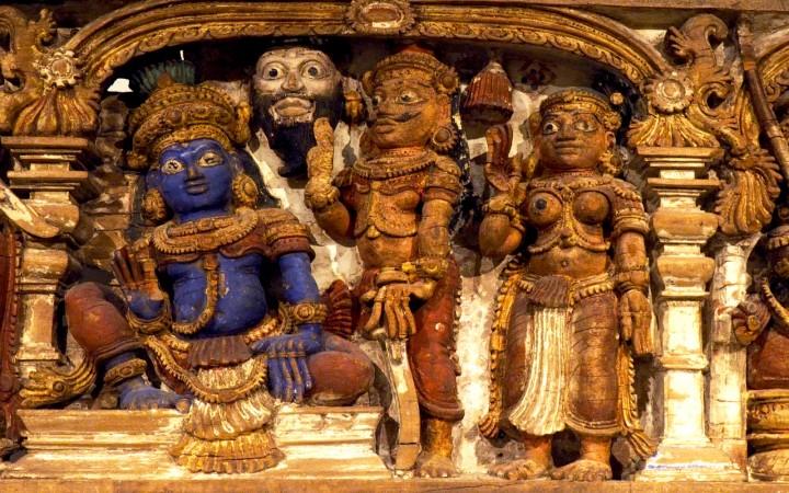 Dintel historiado de Kerala de los siglos XVIII-XIX
