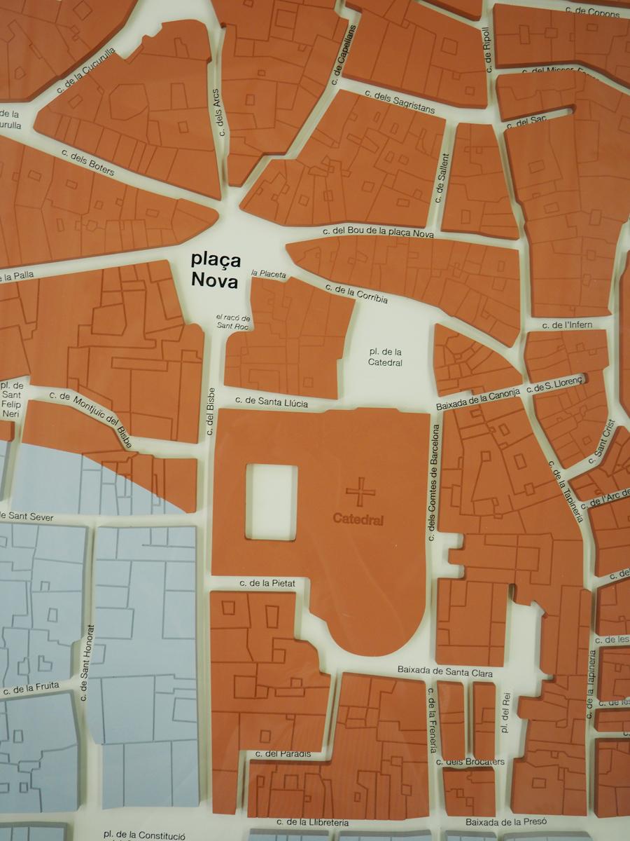 El barri perdut - Maqueta del barri de la Catedral i de la plaça Nova