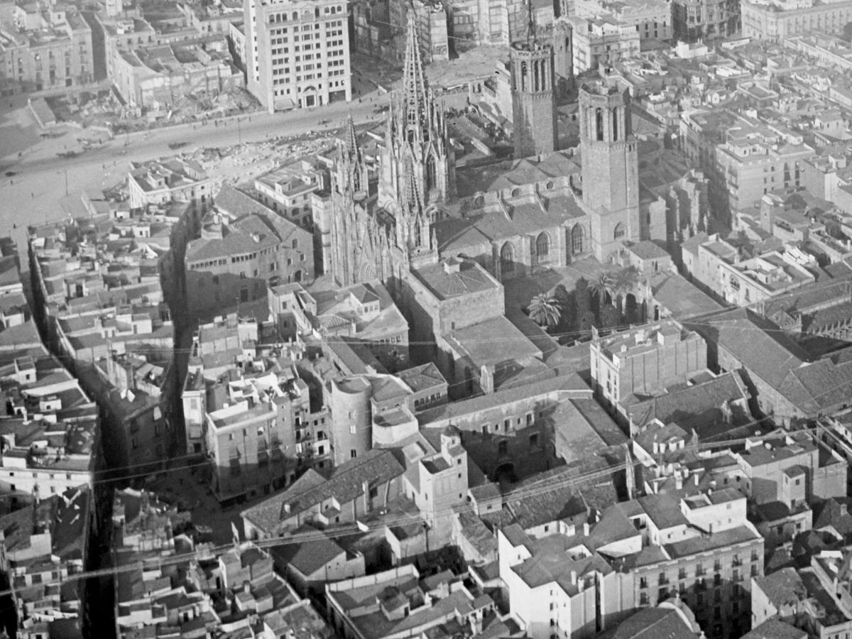 El barri perdut - Vista aérea del Barri Perdut (Ramon Claret i Artigas, 1925-1926)